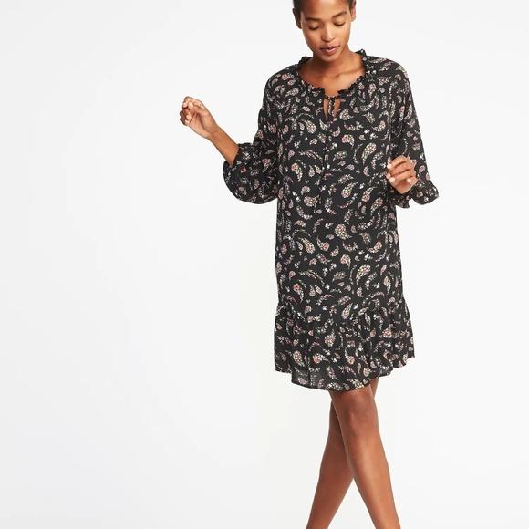 e53451495429 Old Navy Dresses | Ruffled Georgette Swing Dress For Women | Poshmark